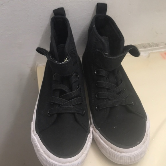 Good Girls Black Canvas High Top Shoes Size 1 New Costumes